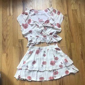 ILLA ILLA Two Piece floral skirt set